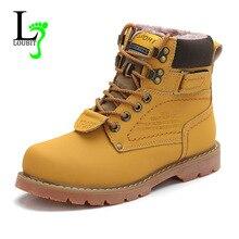 Botas de nieve con piel de goma para hombre, botines de cuero de vaca partido, zapatos de trabajo al aire libre, talla grande 46, para invierno, 2020