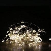 10ft LED String Lights 30 LED Copper Wire Lights Warm White Flexible Fairy Lights For Garden