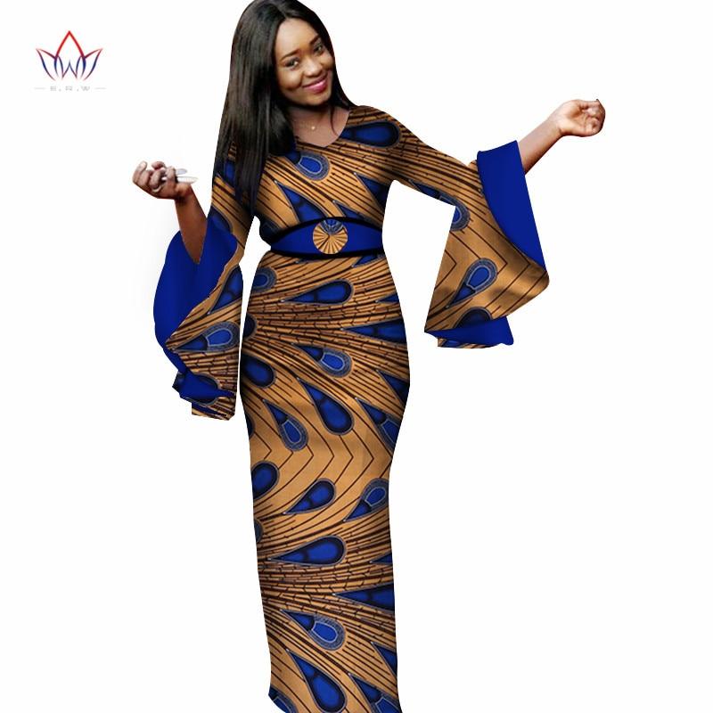 Tradizionale Africani 10 Wy3177 Elegante Abiti Stile Per 2 Formato Il  Manica Partito 8 Nuovo Lunga ... 8d39bec4da0