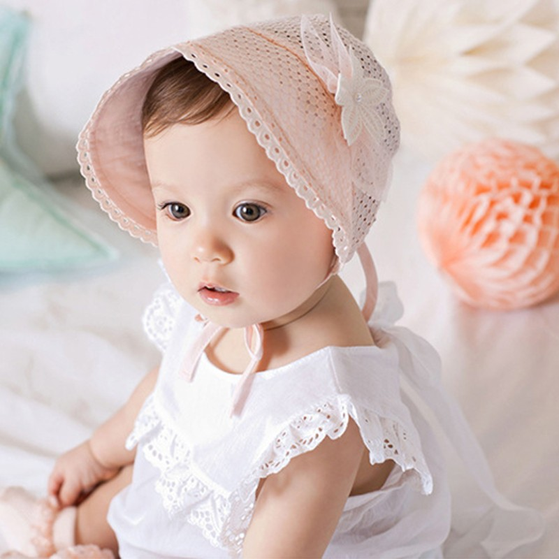 Lovely Summer House Design: Lovely Baby Girl Cap Photo Accessory White Pink Floral