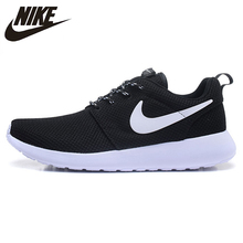 4d0a7ed197cdf Nike Roshe Run Men Air Mesh Breathable Running Shoes Black Mesh Outdoor Sport  Sneakers Summer Trainers