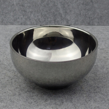 Stainless Steel Shaving Soap Bowl untuk Mens Shave Beard Foam Used