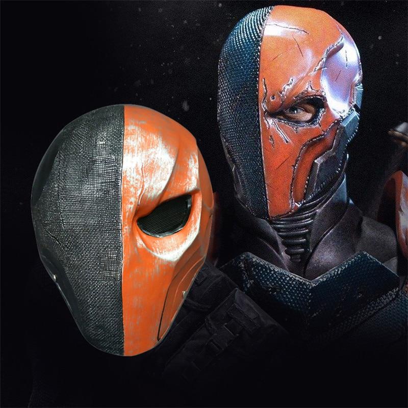 Masque de mort Orange Takerlama casque complet visage PVC Assassin de mort terminateur Slade Joseph Wilson Cosplay masque accessoires