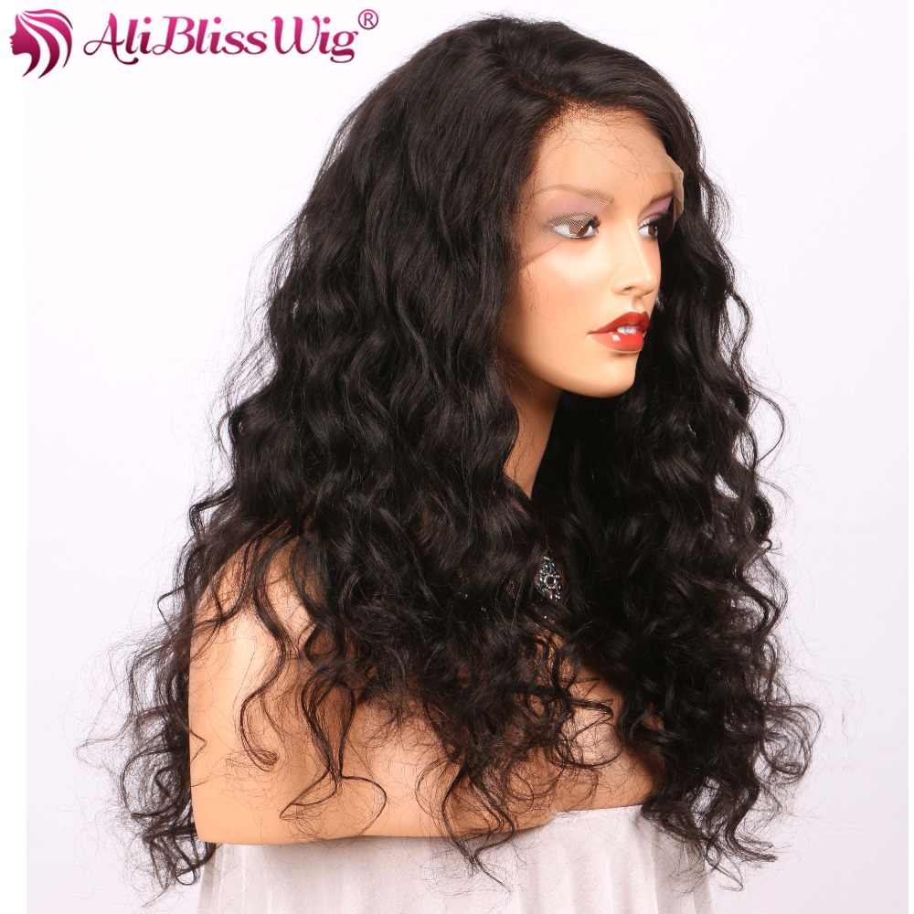 250 Density CurlyLace Front Human Hair Wigs For Women Brazilian Remy Wigs High Density Pre Pulcked Glueless AliBlissWig