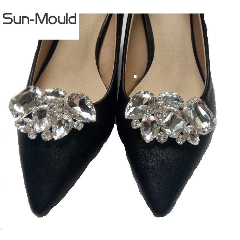Diy chaussures de femmes strass fleur boucle cilp chaussures de mariage bouquet décoration ornements charmes chaussures charmes accessoire 1 paire