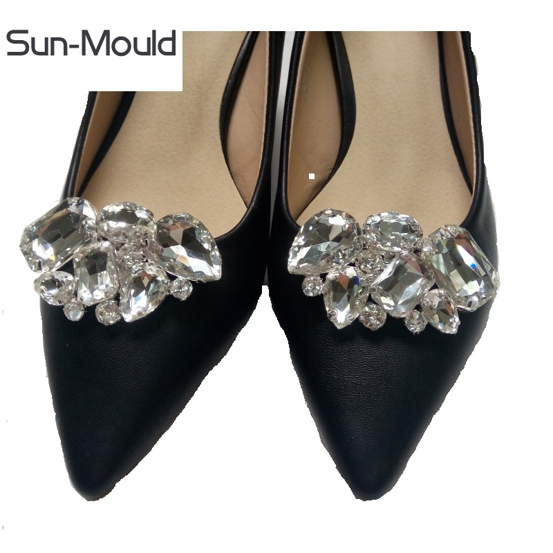Diy women's shoes rhinestone flower buckle cilp wedding shoes bouquet decoration ornaments charms shoes charms accessory 1pair