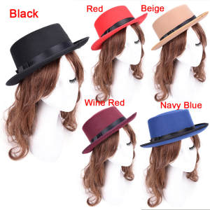 a120f1213f1 SAFENH 1 pcs women Cap Vintage Lady Fedoras Hats Black