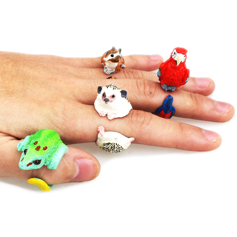 Yyw Animal Wedding Bend Ring Funny Lady Trency Women 3d Animal Ring  Hedgehog Ring Panda Dog