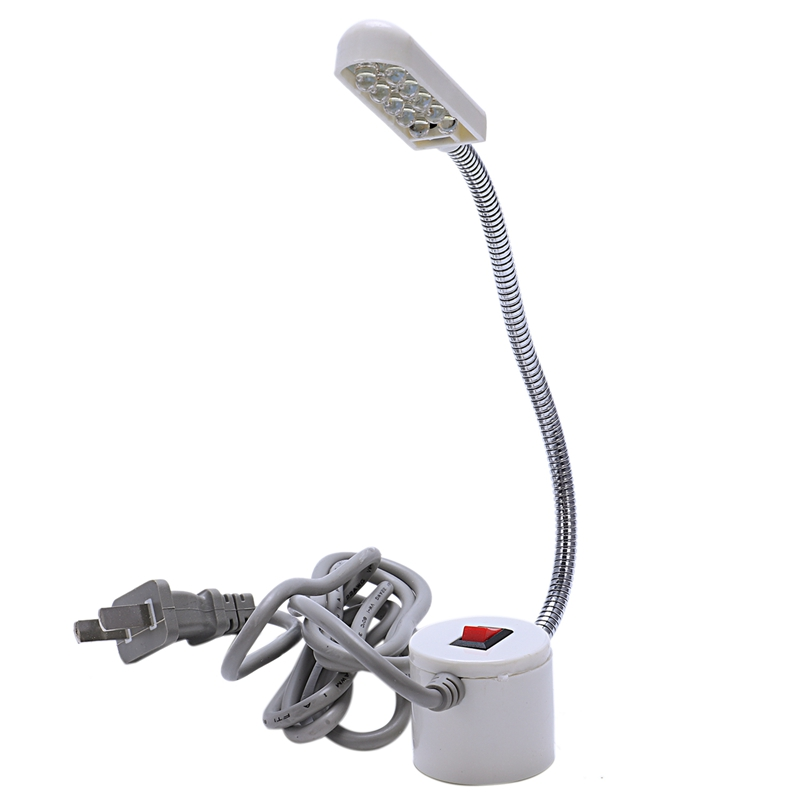 Sewing Machine Light 10 LED Adjustable Gooseneck Lamp Magnetic Base Switch Flexible Mounting Working Table Lamp US Plug