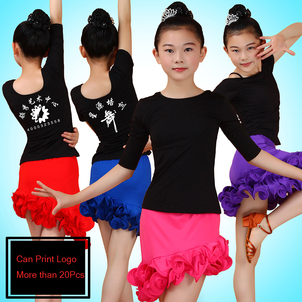 2016 New Robe Danse Latine Femme Summer Dress For Ballroom Dancing Girls Salsa/Tango/Samba Dress Kids Cheap Latin Dance Skirts