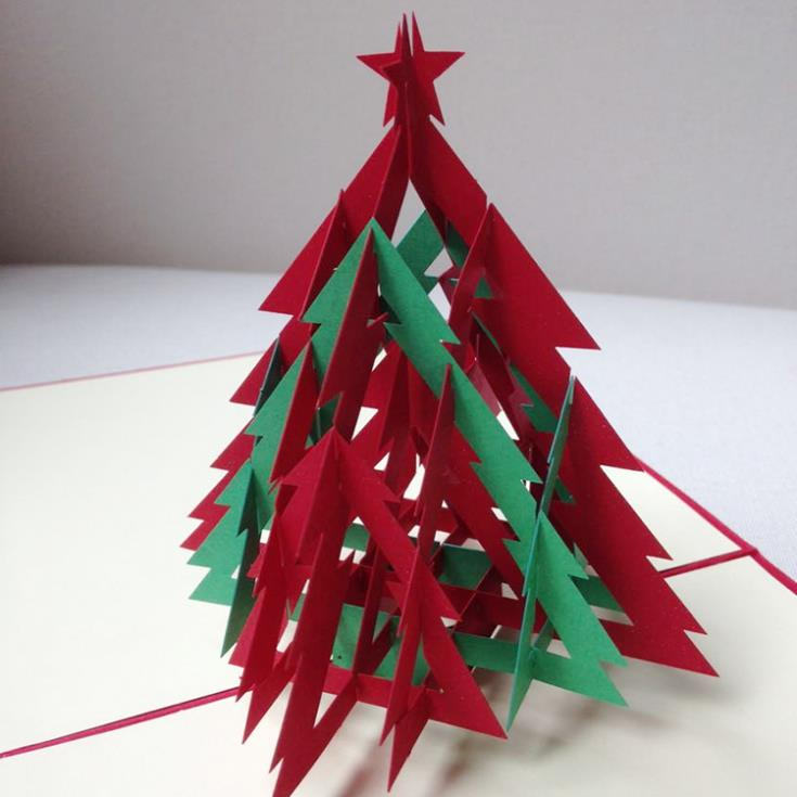 3d red green christmas tree handmade creative kirigami origami 3d red green christmas tree handmade creative kirigami origami pop up christmas card free shippingset of 10 on aliexpress alibaba group solutioingenieria Gallery