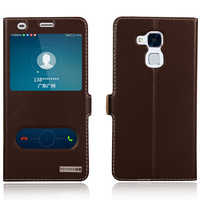 Smart Cover Case For Huawei Ascend P9 Plus P9 Top Quality Natural Genuine Leather Magnet Flip