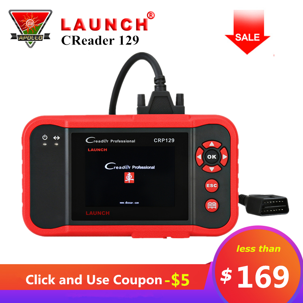 Original Launch Creader 129 CRP129 OBD2 Code Reader CRP 129 OBDII Scanner PK X431 Creader VIII CRP123 Auto Diagnose Werkzeug