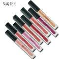Naqier moda mulheres sexy lábios batom líquido cosméticos mancha marrom vermelho nude matte lip gloss lábios tatuagem kit maquiagem para festas