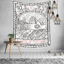 Tarot Ouija Mandala Tapestry Macrame Wall Hanging Hippie Psychedelic Line Draw Boho Decor Divine Cloth Tapestries