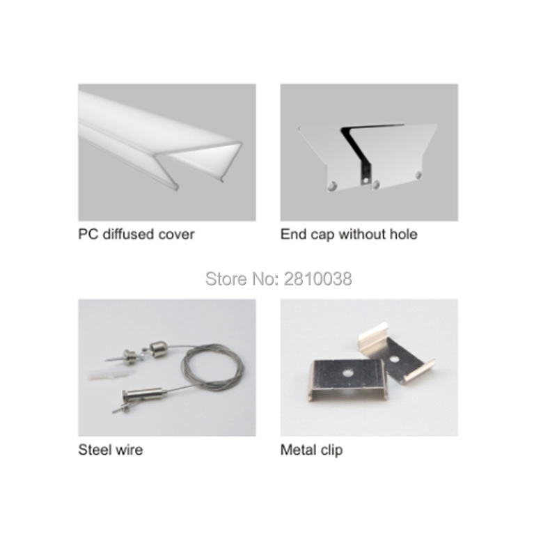 20 X1 M Sets/Lot 75mm wide recessed wall led channel and trapezoidal frame aluminium led extrusion housings for wall light