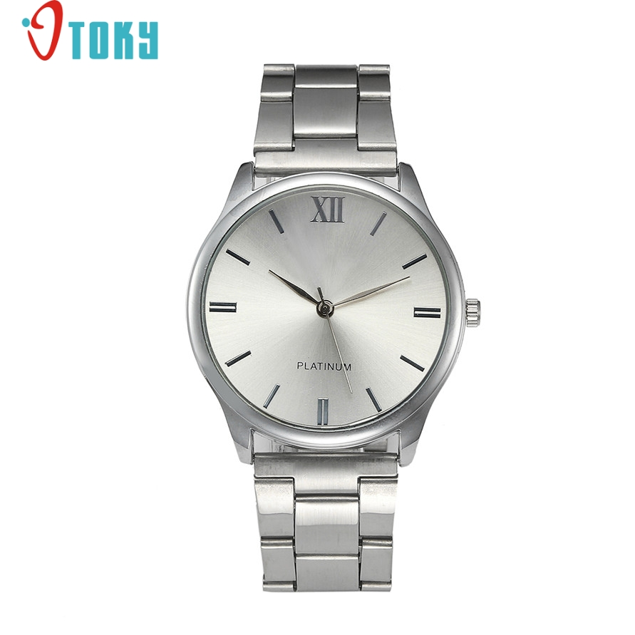 Relogio Feminino Fashion Women Roman Numerals Silver Stainless Steel Analog Quartz Bracelet Wrist Watch 161222 Drop Shipping fashion women crystal silver stainless steel analog quartz wrist watch bracelet relogio reloj pulsera de cuero z510 5down