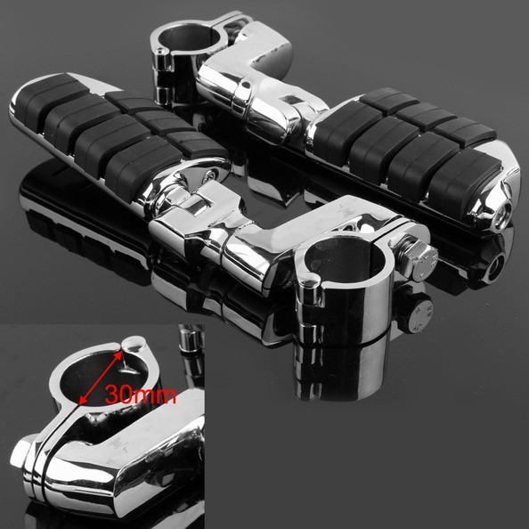 Universal Chrome Front Left&Right Footrest Foot Pegs For Honda Motorcycle 30mm new 2pcs female right left vivid foot mannequin jewerly display model art sketch