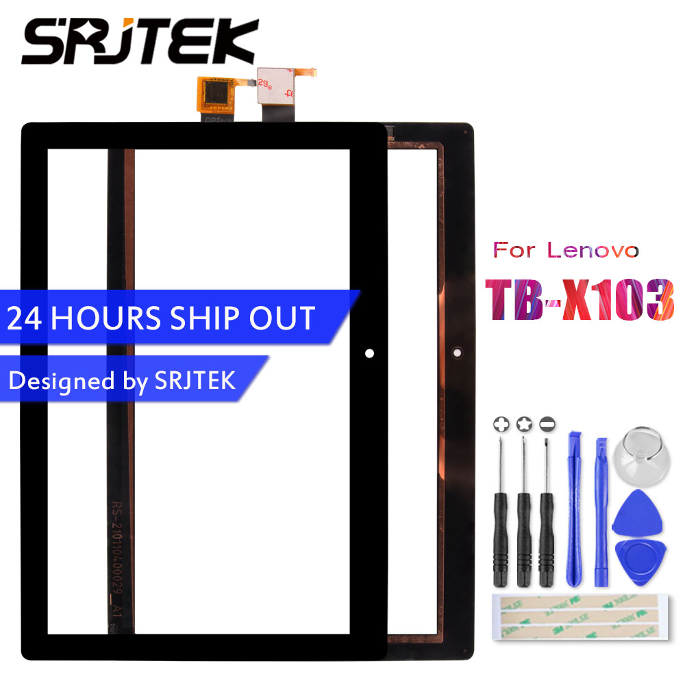 SRJTEK 10.1 For Lenovo Tab 3 10 Plus TB-X103F TB-X103 X103 Touch Screen Digitizer Sensor Panel Glass Tablet PC Replacement Parts srjtek for cube t8 ultimate t8 plus xc pg0800 026 a1 fpc tablet pc touch screen capacitive panel digitizer glass sensor