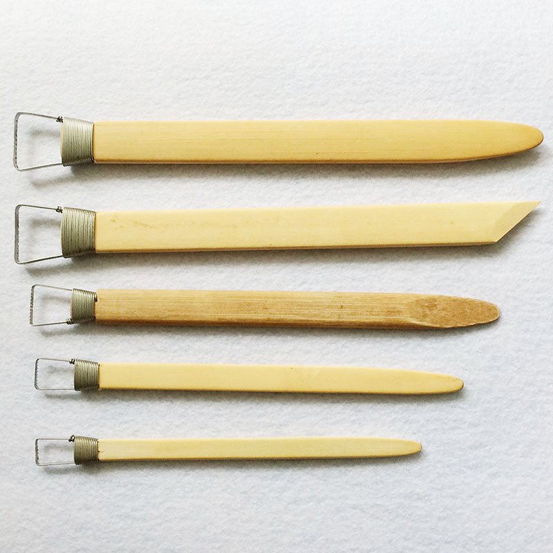 GTCT-0009 Professional Bamboo Polymer Clay Tools Ceramic Pottery Scraper Modeling Carved Sludge Sculpture Art Supplies Tools