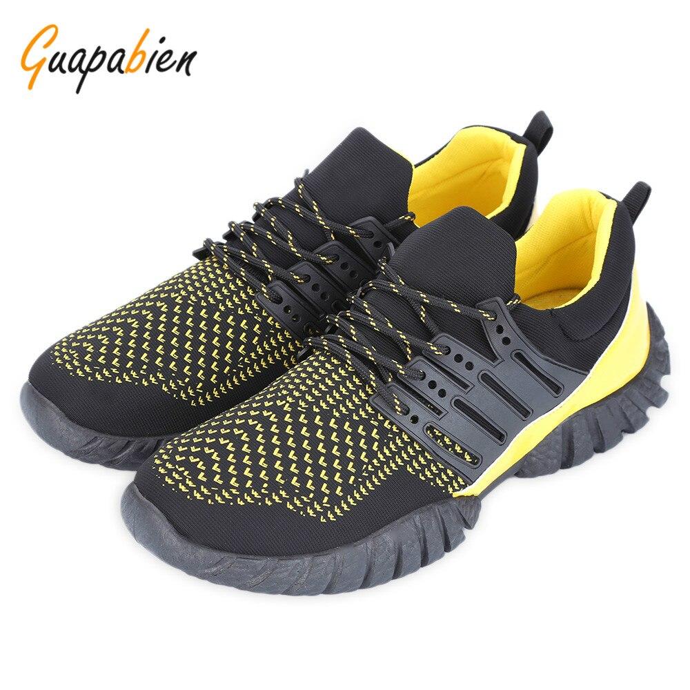 Guapabien Casual Color Block Lace Up Transpirable Zapatos para Hombre