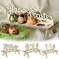 Пасхальные украшения для дома, пасхальные украшения с кроликом для яиц, подставка для хранения, вечерние деревянные украшения в подарок