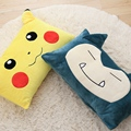 1pcs 65*30cm Japanese Anime Pokemon Pillow Plush Toys Cute Pikachu Snorlax SquirtlDecorative Throw Pillowcase Sofa Cushion Kids