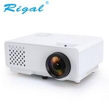 Rigal Proyector RD810 1000 Lumen LED MINI Proyector Soporte 1080P con 3D Beamer para Video Casa Cine Entrada HDMI USB VGA AV