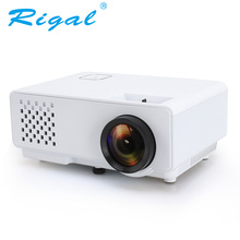 Rigal Projector RD810 1000 Lumen LED MINI Projector Support 1080P with 3D Beamer for Video Home Cinema Input HDMI USB VGA AV