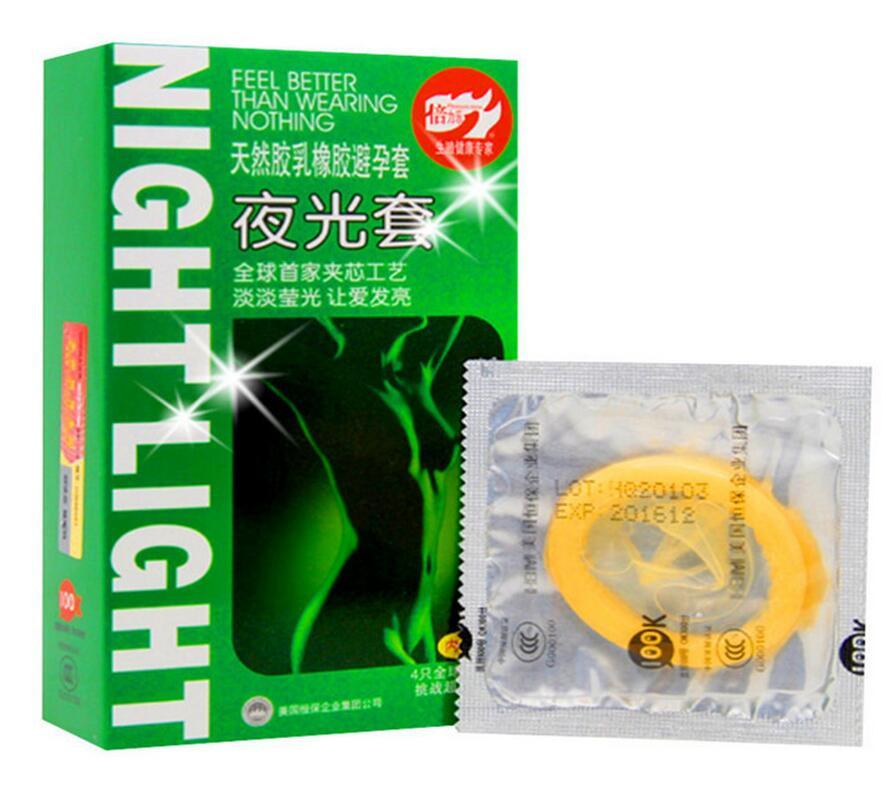Luminous Condoms Ultra Thin Condoms Fluorescence Special Condom Dick Cock Rings Safe Contraception for Men Sexual Toys
