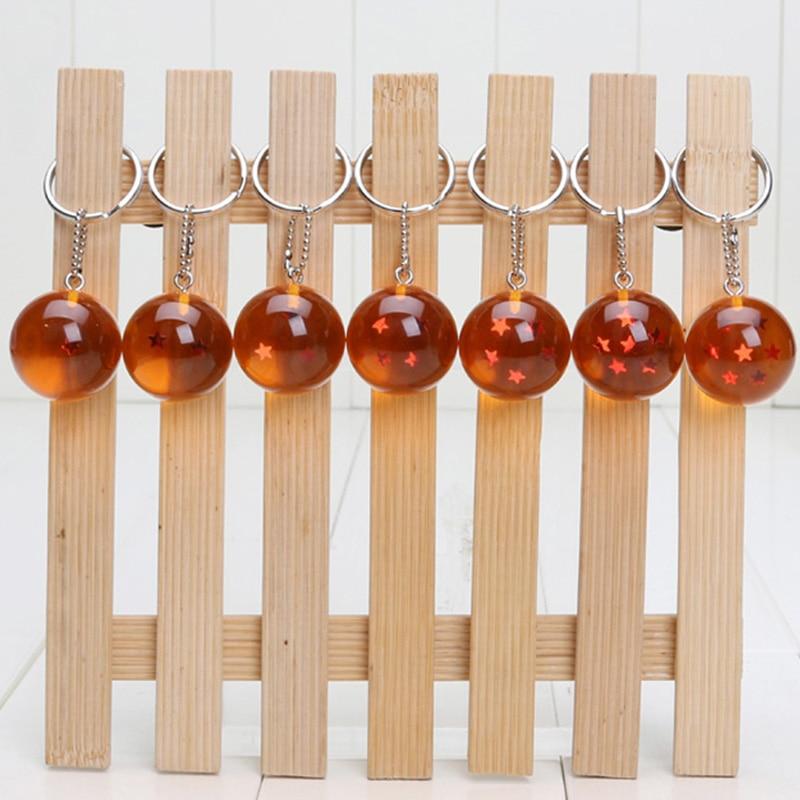 10sets In Stock 2 5cm Dragon Ball Z In Bag 7 Stars Resin Balls PVC Figures