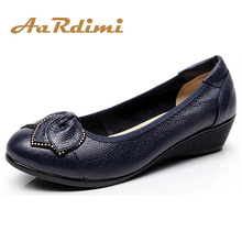NEW 2016 Genuine Leather mother shoes woman casual women flat fahsion loafers flats autumn