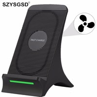 SZYSGSD Fan Universal Qi Standard Fast Wireless Charger For IPhone X 8 Charging Stand Charger For