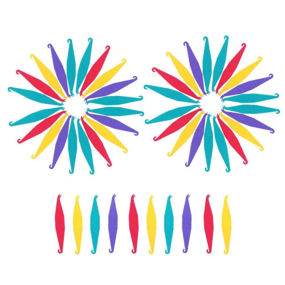 100 Pcs Orthodontic Elastic Placer for Braces Disposable Elastic Rubber  Band Placers Mix Color