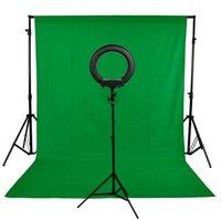Фон Стенд Комплект 240LED фотографическое освещение камера с регулируемой яркостью фото студия телефон видео Фотография кольцо свет лампы м 2