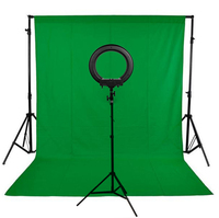 Background Stand Kit 240LED Photographic Lighting Dimmable Camera Photo Studio Phone Video Photography Ring Light Lamp
