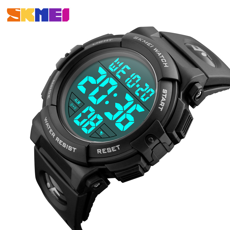 SKMEI Sport Watch 2018 Top Luxury Brand Men Electronic Digital Male Wrist Clock Man 50M Waterproof Men's Watches 1258