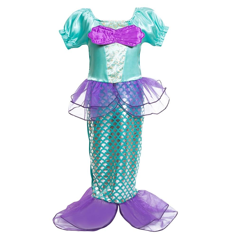 2018 Robes De Sirène Pour Filles Petite Sirène Fantaisie Princesse - Vêtements pour enfants - Photo 5
