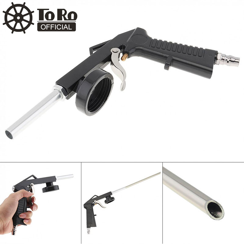 TORO Universal Gray Car Pneumatic Spray Gun Chassis Armor Special Varnish Air Pipe Nozzle Tool For Automotive Chassis Spraying