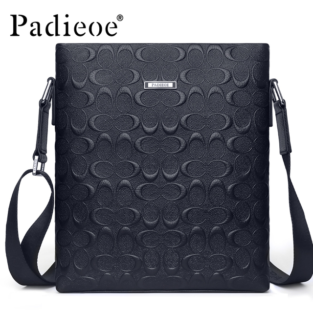 Padieoe Top Genuine Leather Male Bag Famous Brand Men s Travel Bag High  Quality Flap Bag for e9f90d8d3abb8