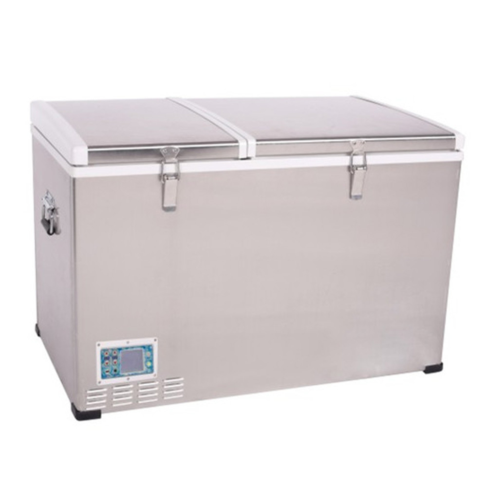 Outdoor compressor freezer double temperature control system ...