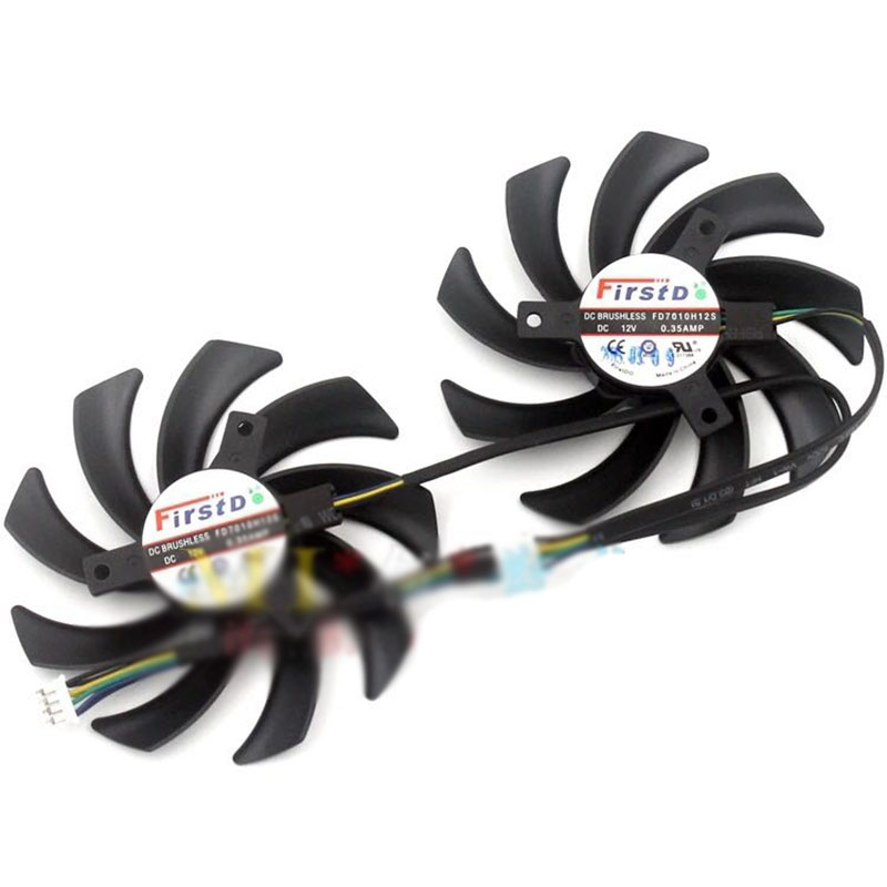For Sapphire AntMiner bitmain R9 280X VAPOR-X R9 270X 85mm 4pin VGA COOLER fan everflow 75mm 2pin 2lines 0 2a t128010sm computer radiator graphics card cooler fan for gigabyte radeon r9 270x 280x vga cooling