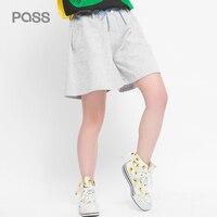 PASSARE 2017 Estate Top Quailty Donna Pantaloni di Scarsità Del Cotone Casuale Elastico In Vita Tasche Moda Abbigliamento