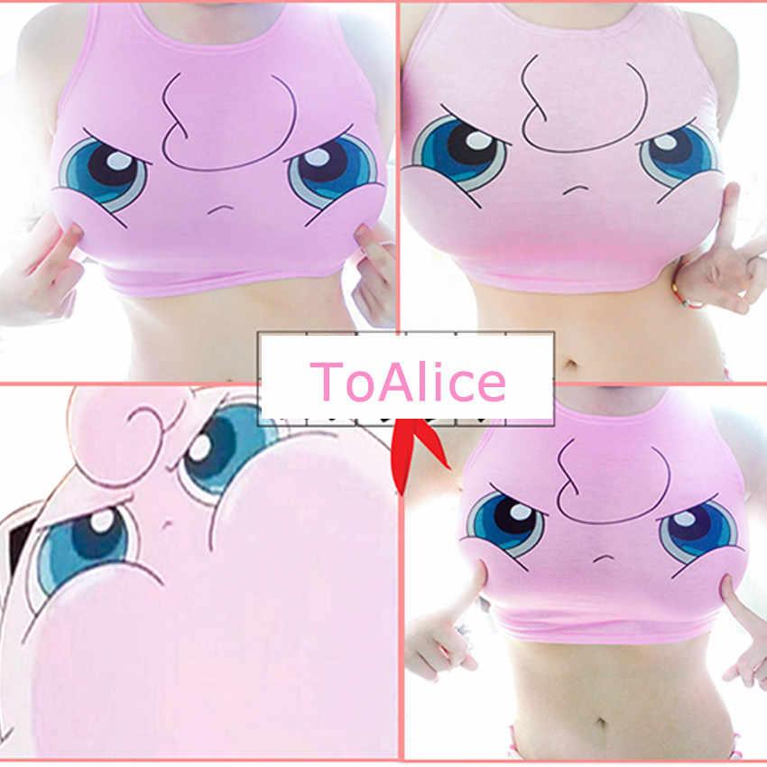 Pocket Monsters Crop Top Vrouwen Camis Sailor Moon Charmander Squirtle Bulbasaur Print Tank Tops Harajuku Mouwloos Tee Vest
