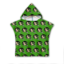 Power puff Girls Hooded baby Boys and Towel Wearable Bath For Kids Travel 3D print Beach Towels style-3