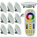 10pcs X 6W LED Downlight Dimmable Mi light 220V 240V RGB+CCT Indoor Bed Room Kitchen + 1 X 2.4G RF Wireless Remote Control