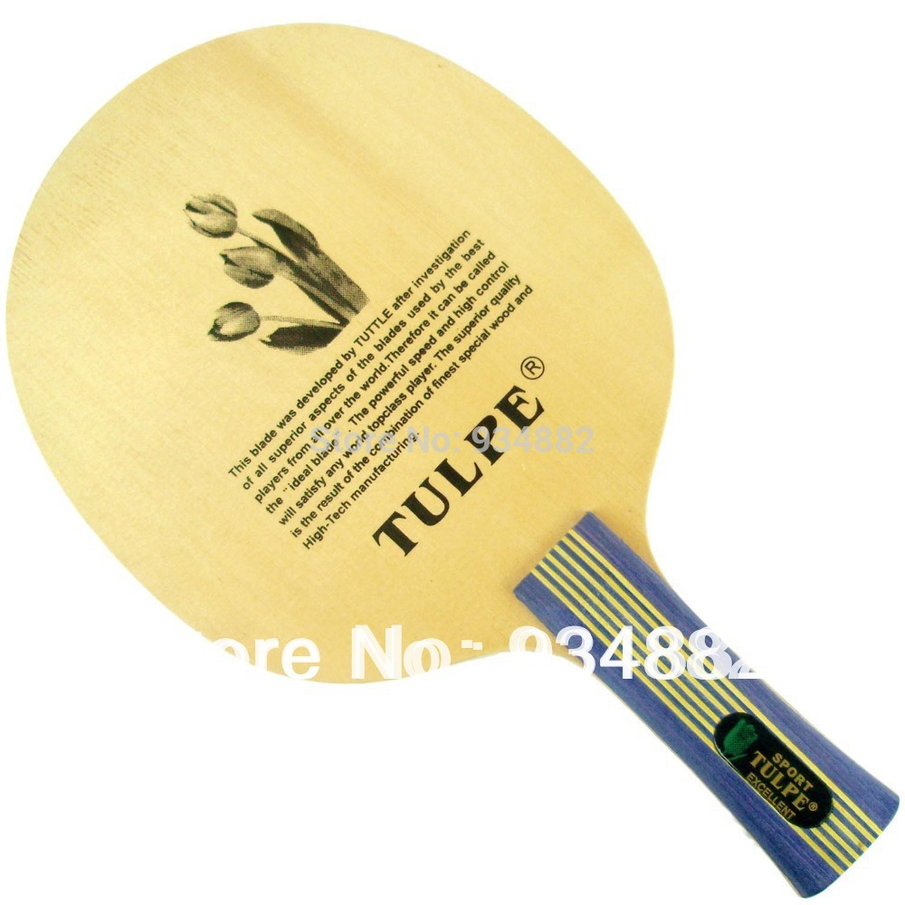 Kokutaku Tulpe T-7010 (T7010, T 7010) Shakehand Table Tennis (Ping Pong) Blade LongShakehand FL yinhe earth 4 e4 e 4 e 4 shakehand table tennis ping pong blade