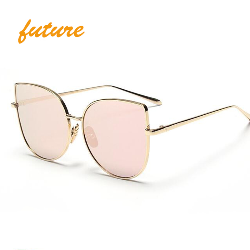 2016 Sunglasses Women Unique Classic Cat Eye Brand Designer Fashion Matal Frame Steam Punk Vintage Sun Glasses occhiali da sole