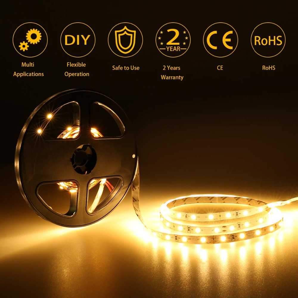 HTB16PPnMSzqK1RjSZFjq6zlCFXaE 3AA Battery Power Led Strip Light SMD2835 50cm 1M 2M 3M 4M 5M Flexible Lighting Ribbon Tape White/Warm White Strip Backlight