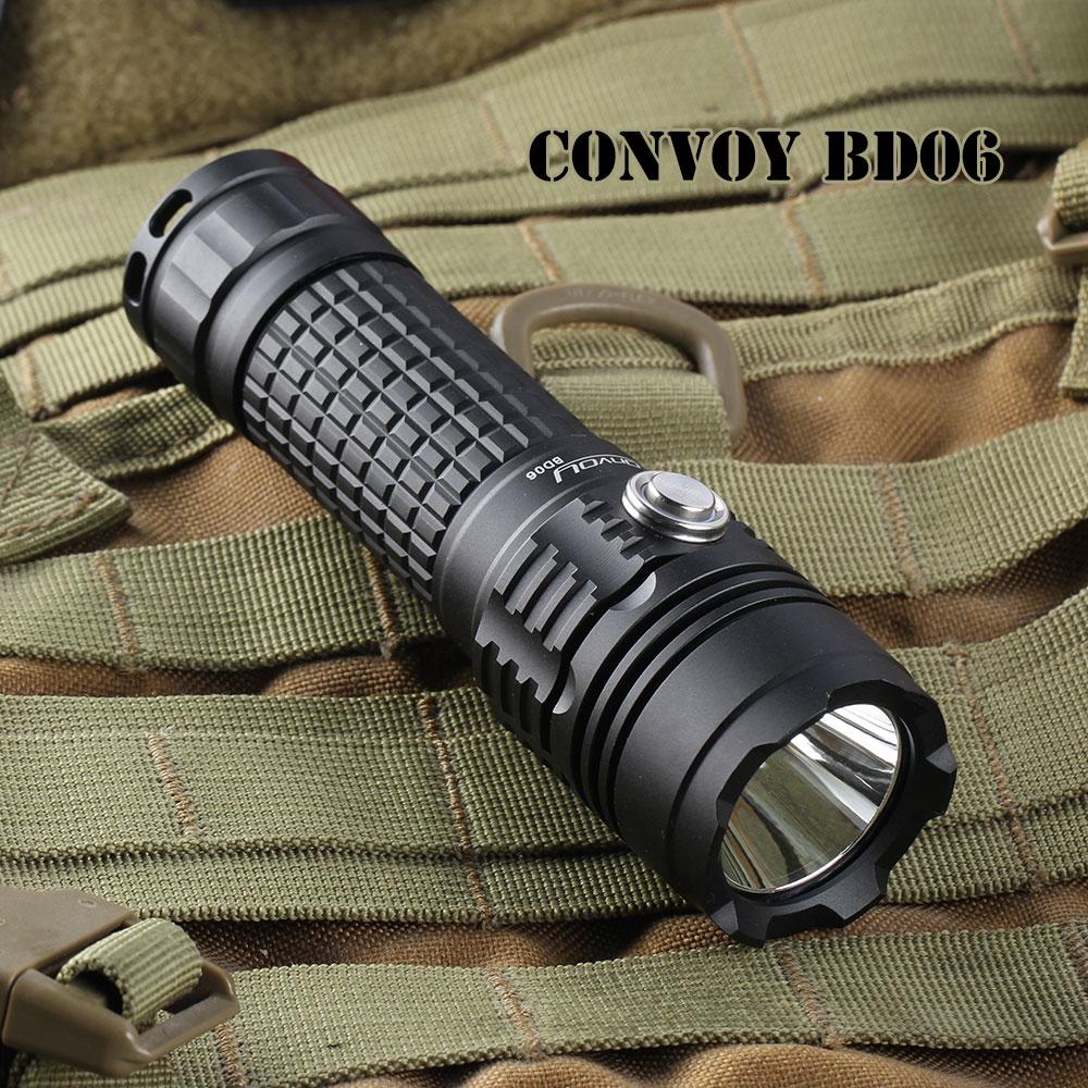 Convoi bd06 lampe de poche torche cree xm-l2 1000lm 18650 lampe de poche torche, lanterne, auto défense, étanche lampe de poche, Camping Lumière